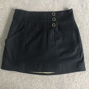 L.A.M.B. Academy Skirt Navy w/ Yellow Lining
